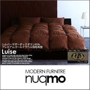 日本製プレミアムゴールドラベル羽毛掛け布団 Luise ルイーゼ シングル|nuqmo