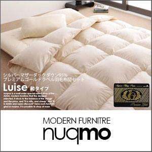 プレミアムゴールドラベル羽毛布団8点セット Luise ルイーゼ 和タイプシングル|nuqmo