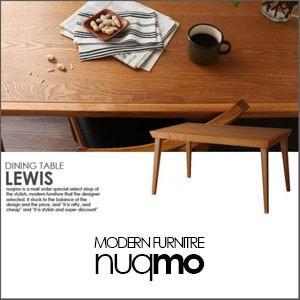 ダイニングテーブル テーブル 天然木北欧ヴィンテージスタイルダイニング LEWIS ルイス/テーブル(W135)|nuqmo