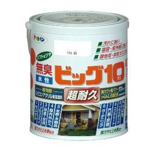 アサヒペン  無臭水性 ビッグ10多用途ソフトなツヤ   1.6L (45色)|nurimaru