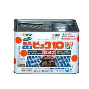 アサヒペン  無臭水性 ビッグ10多用途ソフトなツヤ      5L (12色)    |nurimaru