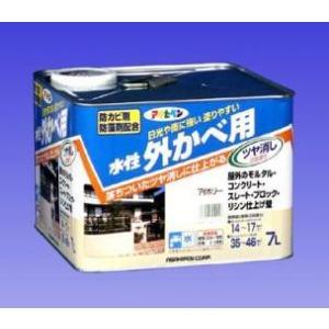 アサヒペン  水性 外かべ用  ツヤ消し    7L |nurimaru