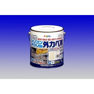アサヒペン  水性シリコンアクリル外かべ用  3Kg  |nurimaru