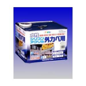 アサヒペン  水性シリコンアクリル外かべ用  8Kg  |nurimaru