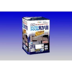 アサヒペン  水性シリコンアクリル外かべ用 <ローラー付き> 16Kg |nurimaru