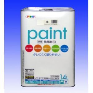 アサヒペン  水性 多用途EX (水性アクリル樹脂塗料)  14L |nurimaru