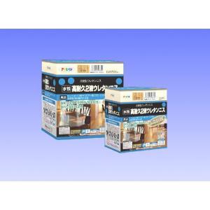 アサヒペン  水性高耐久2液ウレタンニス  300gセット(主剤250g、硬化剤50g)**透明(クリヤ)除く|nurimaru