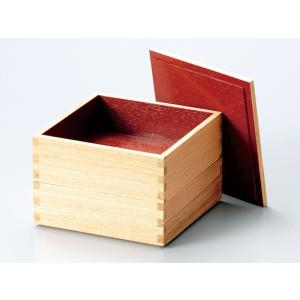 おしゃれ かわいい 二段重箱 越前漆器 2段重箱 木製 白木...