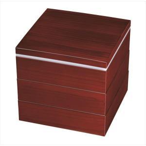 和食器 三段重箱 お重 3段重箱 紀州漆器 6寸 杢目 紀州...