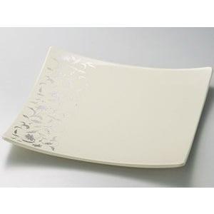 盛皿 角皿 和食器 皿 越前漆器 越前塗り アールデコ スクエアーホワイト 木合 1枚 ギフト 内祝...