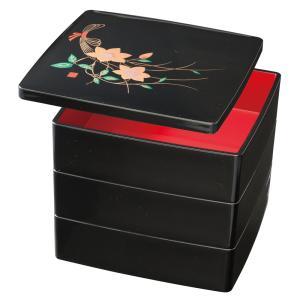 和食器 二段重箱 お重 2段重箱 6.5寸 紀州漆器 朱塗り...