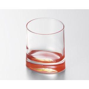 ガラスに漆を塗ったカップ ガラス 赤富士 オールドグラス 越前漆器 漆塗り 朱 越前塗り 1個【ギフ...