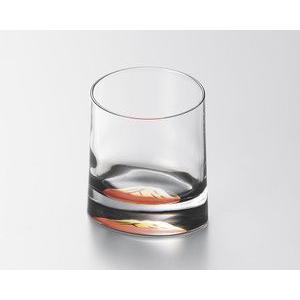 ガラスに漆を塗ったカップ ガラス 赤富士 オールドグラス 越前漆器 漆塗り 黒 越前塗り 1個【ギフ...