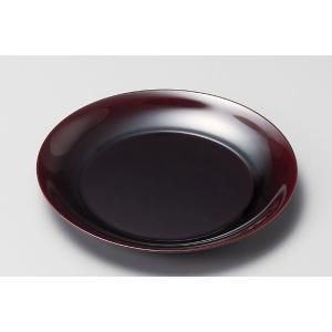和食器 盛皿 越前漆器 越前塗り 中皿 23cm 金彩 フローラ 吟朱 うるし塗り 漆塗り 木合 1...