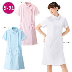 白衣 女性 ナースウェア くるみボタンワンピース2(S/M/L/LL/3L) nursery-y