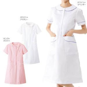 白衣 女性 ナースウェア リボンタックワンピース(S/M/L/LL/3L)|nursery-y