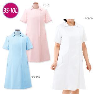 白衣 女性 ナースウェア ゆったりプリンセスラインワンピース(7L/8L/9L/10L)|nursery-y