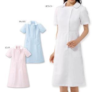 白衣 女性 ナースウェア ハイウエストピンタックワンピース(S/M/L/LL/3L)|nursery-y