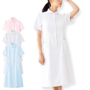 白衣 女性 看護師 制電ツイル ハイウエストワンピース|nursery-y