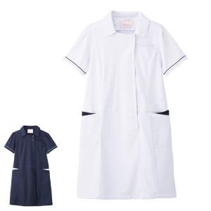 アクティブストレッチ・ネオ ゆったり配色ワンピース 医療 ナース 看護 白衣 女性 大きいサイズ nursery-y