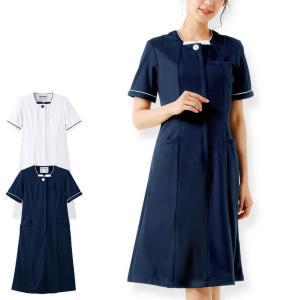医療 ナース 看護 白衣 女性スーパービューティストレッチ スクエアカットワンピース|nursery-y