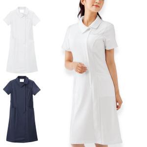 医療 ナース 看護 白衣 女性 ビューティストレッチ シンプリーワンピース S M L LL 3L|nursery-y