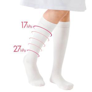 医療用 白 ソックス 看護 介護 病院 靴下 ナース 女性 レディース 快温コントロール医療用ソックス|nursery-y