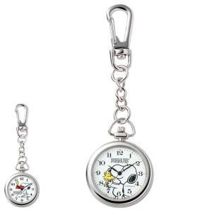 ナース 小物 グッズ 看護 医療 時計 スヌーピー クリップチェーンウォッチ|nursery-y