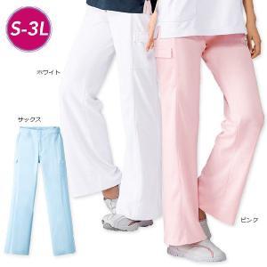 白衣 女性 ナースウェア サイドポケット付ローライズパンツ(S/M/L/LL/3L)|nursery-y