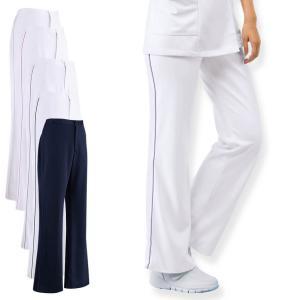 白衣 女性 ナースウェア 後ろゴムパイピングパンツ(4L/5L)|nursery-y