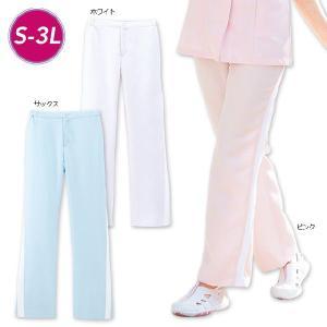 白衣 女性 ナースウェア ストレスフリー屈伸快適パンツ(S/M/L/LL/3L)|nursery-y