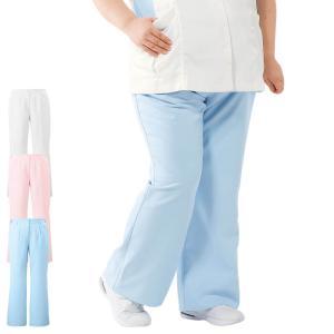 白衣 女性 ナースウェア ゆったり美脚ブーツカットパンツ(3L/4L/5L/6L)|nursery-y