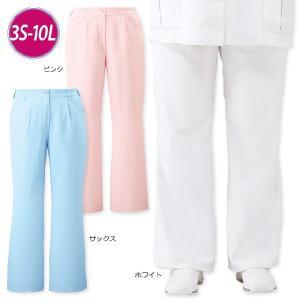 白衣 女性 ナースウェア ゆったり美脚ブーツカットパンツ(7L/8L/9L/10L)|nursery-y