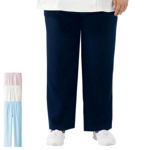 医療 ナース 看護 女性 白衣 大きいサイズ   エアリータッチ ゆったり 美脚ストレートパンツ(7L/8L/9L/10L)|nursery-y