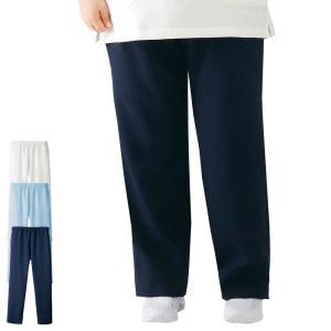 白衣 女性 ナースウェア 医療用 大きいサイズ エアリータッチ ゆったり総ゴムパンツ(3L〜6L)|nursery-y