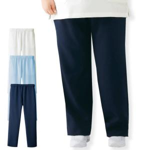 白衣 女性 ナースウェア 医療用 大きいサイズ エアリータッチ ゆったり総ゴムパンツ(7L〜10L)|nursery-y