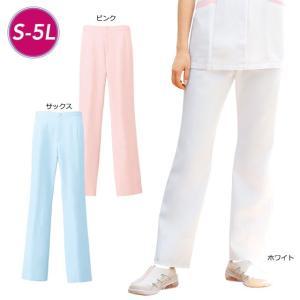 白衣 女性 ナースウェア 脚長パイピングパンツ 3L〜5L|nursery-y
