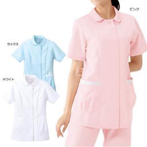 白衣 女性 ナースウェア リブ使いたっぷり収納ジャケット(S/M/L/LL)|nursery-y
