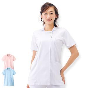 白衣 女性 ナースウェア 快適メッシュジャケット(S/M/L/LL/3L)|nursery-y