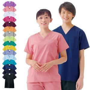 白衣 スクラブ 女性 男性  男女兼用 医療用 半袖 ドクター 医師 看護師 ナースウェア ナースリースクラブ|nursery-y