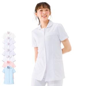 白衣 女性 ナースウェア シンプルパイピングジャケット(S/M/L/LL/3L)|nursery-y