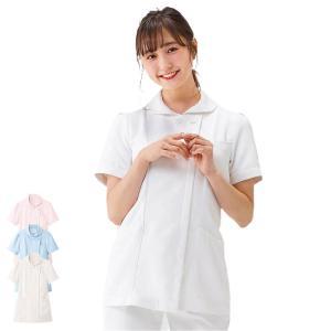 白衣 女性 ナースウェア マシュマロツイルショールカラージャケット(SS/S/M/L/LL/3L)|nursery-y