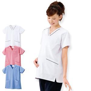 白衣 女性 ナースウェア 医療用 ナースリーマタニティスクラブジャケット nursery-y