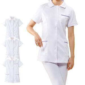 白衣 女性 ナースウェア グラデーションパイピングジャケット(S/M/L/LL/3L)|nursery-y