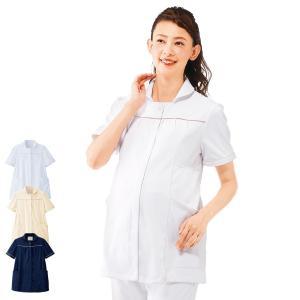 白衣 女性 看護師 マタニティ スーパービューティジャケット 病院|nursery-y