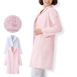 白衣 女性 看護師 デイリードクターコート(ピノコ) 病院|nursery-y