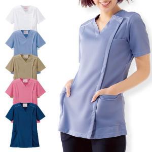 【医療 ナース 看護 白衣 女性】 訪問看護 ジップジャケット|nursery-y
