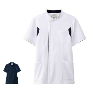 アクティブストレッチ ストレッチ切替ジャケット(メンズ) 医療 病院 ナース 看護 白衣 男性|nursery-y