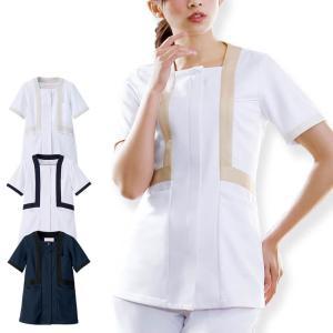 アクティブストレッチ・ネオ トリミングジャケット 医療 ナース 看護 白衣 女性|nursery-y