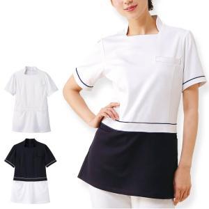 ビューティストレッチ チュニックジャケット 医療 ナース 看護 白衣 女性|nursery-y